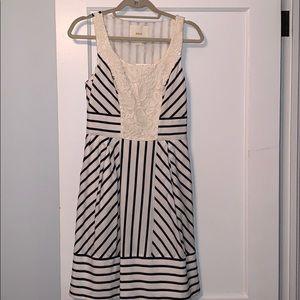 Maeve/Anthro Sleeveless Striped Dress with Pockets